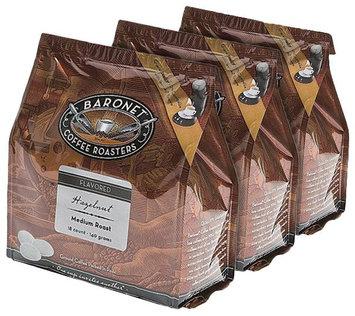 Baronet Coffee Hazelnut Medium Roast, 140 g, 18 ct Coffee Pods, 3 pk