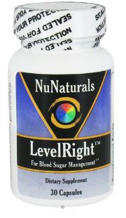 NuNaturals - LevelRight For Blood Sugar Management - 30 Capsules
