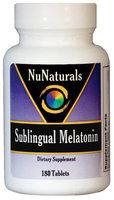 Nunaturals Sublinqual Melatonin Tablets, 180 ct