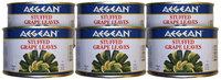 Aegean Stuffed Grape Leaves (Dolmadakia), 14 oz Cans, 6 pk