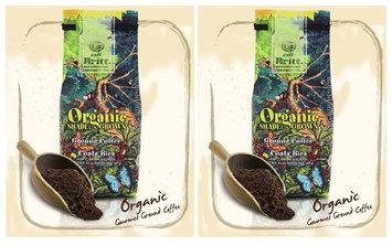 Cafe Britt Costa Rica Organic Shade Grown Ground Coffee, 12 oz Bags, 2 pk