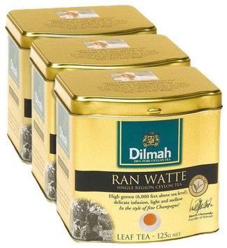 Dilmah Tea Ran Watte Tea, Loose Leaf, 4.4 oz Tins, 3 pk