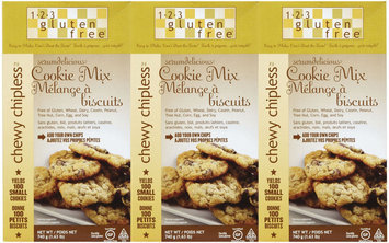 123 Gluten Free Chewy Chipless Cookie Mix, 24 oz, 3 pk