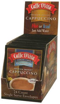 Caffe D'Vita Sugar Free French Vanilla Cappuccino, 7.5g Envelopes, 24 ct