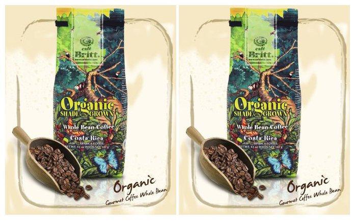 Cafe Britt Coffee, 12 oz Bags, 2 pk, Costa Rica Organic Shade Grown Whole Bean