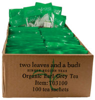 Two Leaves and a Bud Organic Earl Grey Black Tea, Tea Bags, 100 ct