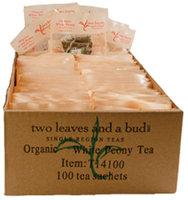 Two Leaves and a Bud Organic White Peony White Tea, Tea Bags, 100 ct