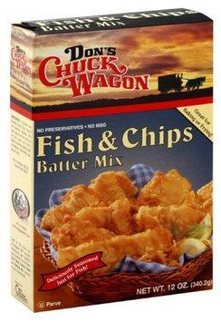 Don's Chuck Wagon Fish & Chips Batter Mix, 12 oz, 6 pk