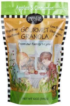 Partners Apples & Cinnamon Gourmet Granola, 12 oz, 6 pk