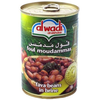 Al Wadi Foul Moudammas, Fava Beans in Brine, 14 oz, 12 pk