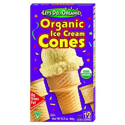 Let's Do Organic Organic Cones, 12 ct, 12 pk