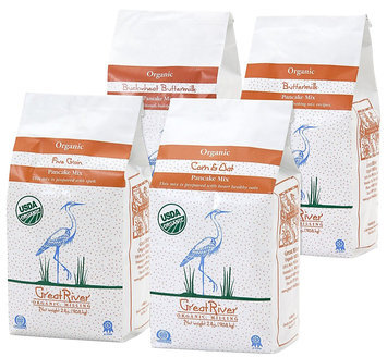 Great River Organic Milling Variety 4 piece Pancake Gift Set, 128 oz