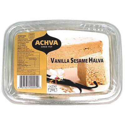 Achva Vanilla Sesame Halva, 16 oz, 12 pk