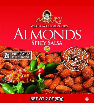 Madi K's Spicy Salsa Almonds, 2 oz Bags, 36 pk