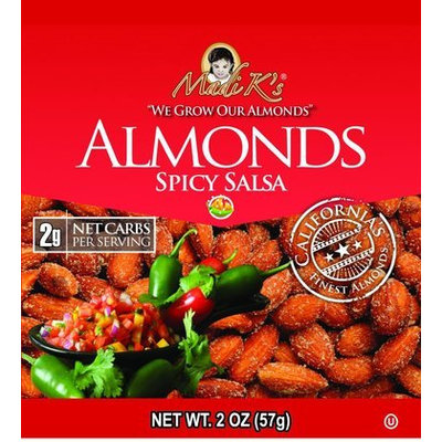 Madi K's Spicy Salsa Almonds, 2 oz Bags, 36 pk