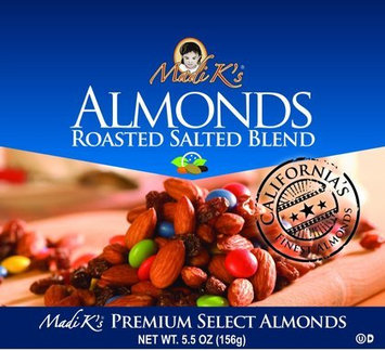 Madi K's Roasted Salted Blend Almonds, 5.5 oz, 12 pk