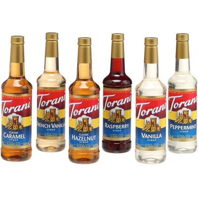 Torani Regular Variety Pack, 25.36 oz Bottles, 6pk