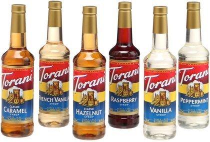 Torani Regular Variety Pack, 25.36 oz Bottles, 6pk