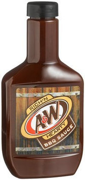 A & W Rich 'N Hearty Barbecue Sauce, 18 oz Bottles, 6 pk