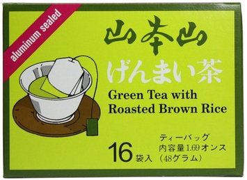 Yama Moto Yama Genmai-cha Green Tea with Roasted Brown Rice, 1.69 oz, 12 pk