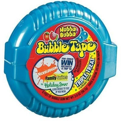 Hubba Bubba Bubble Gum Tape, Triple Treat, 6-Foot Tapes, 24 pk