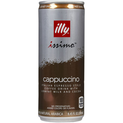 illy Cappuccino Coffee Drink, 8.45 oz Cans