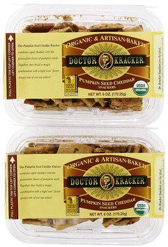 Doctor Kracker Snackers, Pumpkin Seed Cheddar, 6 oz, 2 pk