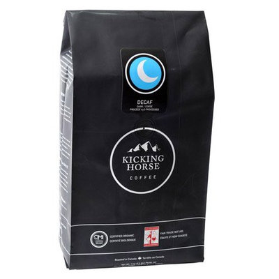 Kicking Horse Coffee Decaf Dark, Whole Bean Coffee, 2.2 lb Pouch
