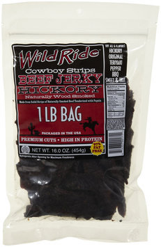 Wild Ride Beef Jerky Cowboy Strips, Hickory