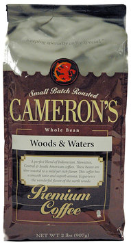 Cameron's Camerons Woods & Water Whole Bean Coffee, 32 oz Bag