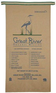 Great River Organic Milling Organic Whole Wheat Bread Flour, 400 oz
