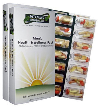 Vitamins On Demand Men's Health and Wellness Vitamin Pack