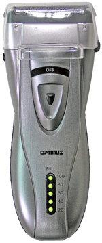 Optimus 50046 Curve Rechargeable Triple Blade Wet/dry Men's Shaver, Black/silver, Black/Silver