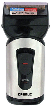 Optimus 50040 Curve Rechargeable Double Blade Wetdry Mens Shaver#44; Blacksilver