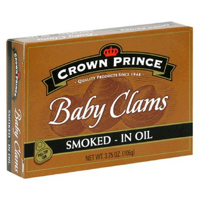 Crown Prince Smoked Baby Clams in Oil, 3.75 oz Cans, 12 ct