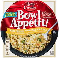 Bowl Appetit Betty Crocker, Herb Chicken Vegetable Rice, 2.4 oz Bowls
