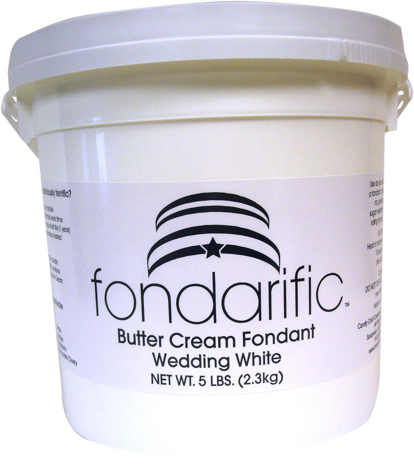 Fondarific Wedding White Buttercream Flavored Rolled Fondant Icing -5 Pounds