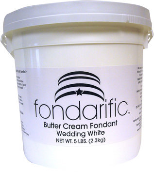 Fondarific Wedding White Buttercream Flavored Rolled Fondant Icing -5 Pounds