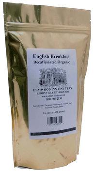 Elmwood Inn Fine Teas, English Breakfast Organic Decaf Black Tea, 16 oz Pouch