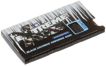 Gerrit's Extreme Ice Sugar Free Black Licorice Chewing Gum, 12 pk