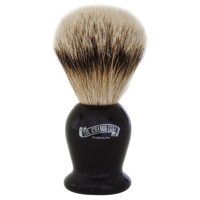 Colonel Conk Model # 920 Silver Tip Badger Brush with Black Handle