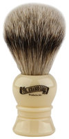 Colonel Conk Model # 910 Silver Tip Badger Brush with Ivory Handle