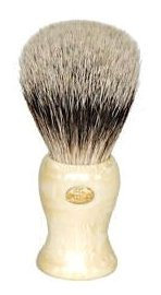Omega Elegant Silver Tip Badger Shaving Brush