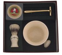 Colonel Conk Apothecary Mug, Boar Brush, Gold Razor & Soap