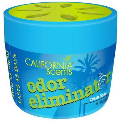 California Scents Odor Eliminator, , 5.2-Ounce Jars (Pack of 12), Fresh Linen