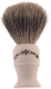 Colonel Conk Progress Model 850 Deluxe Pure Badger Shaving Brush, Lathe Turned Cream Handle