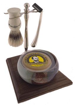 Colonel Conk Model 249 5-Piece Santa Fe Cup Shave Set with Deluxe Boar Brush, Soap & Chrome Razor
