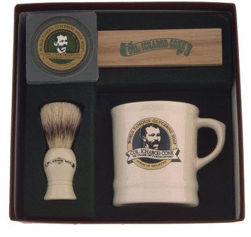 Colonel Conk Mug, Deluxe Boar Brush, and Soap, Model 221