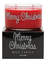 Primal Elements Wish Candle, 9.5 oz, Merry Christimas, Red