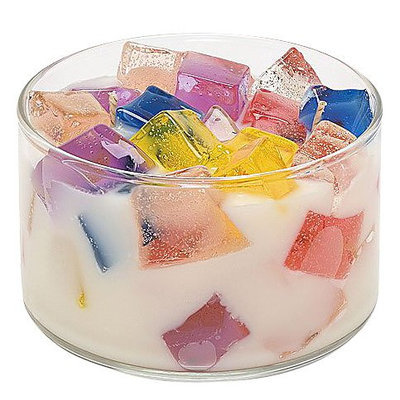 Primal Elements Two Wick Color Bowl Candle - Cupcake - 1 Candle